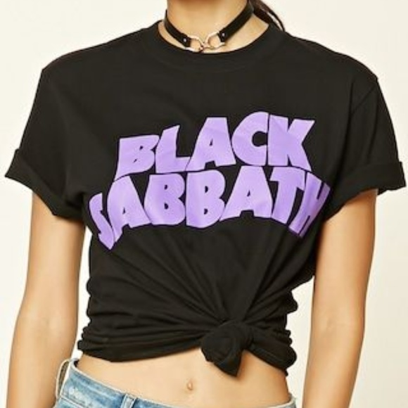 1f1acc446f6 Forever 21 Tops   Black Sabbath Graphic Band Tee   Poshmark